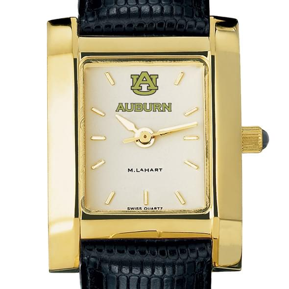 Auburn Women's Gold Quad with leather strap