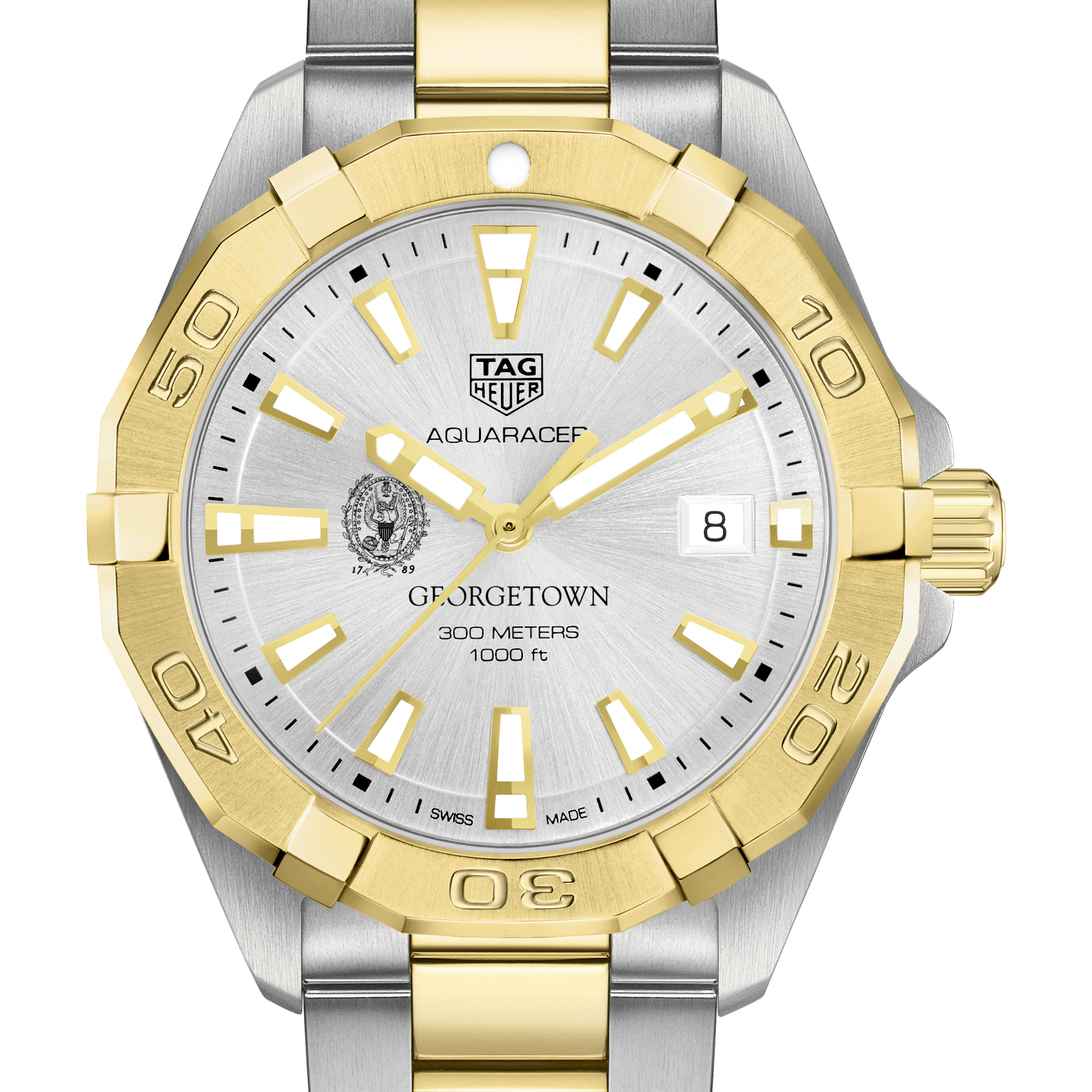Georgetown Men's TAG Heuer Two-Tone Aquaracer