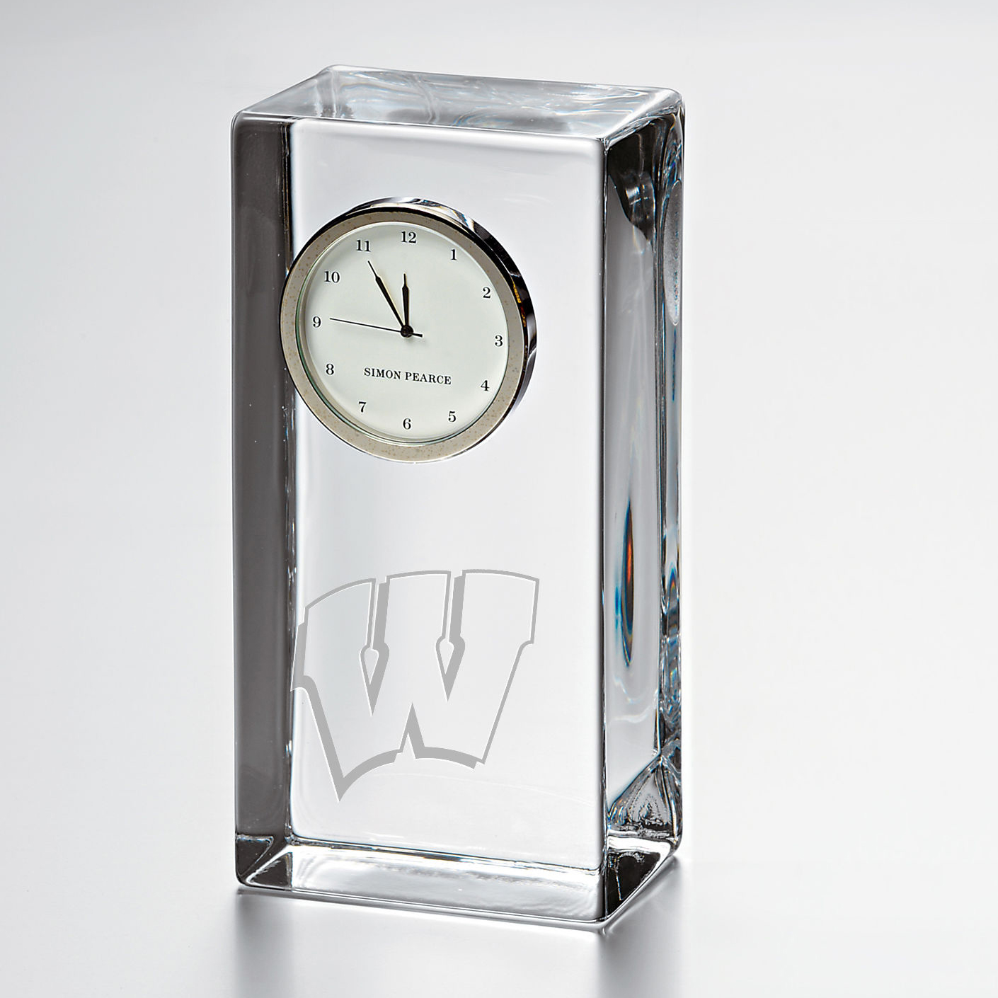 Wisconsin Tall Desk Clock by Simon Pearce