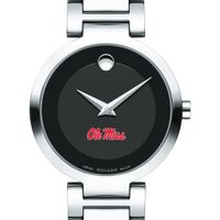 Ole Miss Women's Movado Museum with Steel Bracelet Image-1 Thumbnail