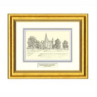 Framed Pen and Ink Northwestern University Print Image-1 Thumbnail