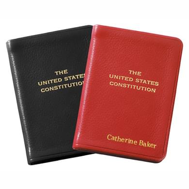Mini Leather US Constitution Image-1