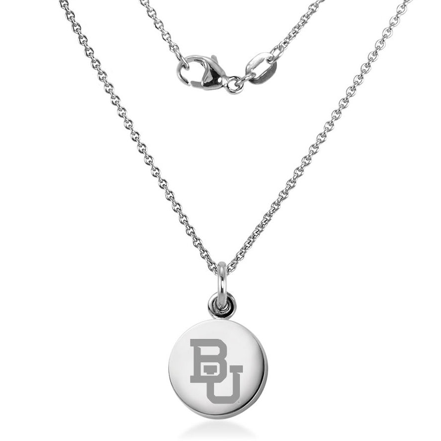 Baylor Sterling Silver Necklace with Silver Charm