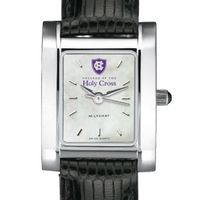 Holy Cross Women's Mother of Pearl Quad Watch Leather Strap