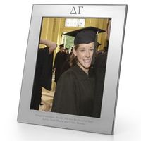 Delta Gamma Polished Pewter 8x10 Picture Frame Image-1 Thumbnail