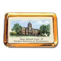 Georgia Tech Eglomise Paperweight