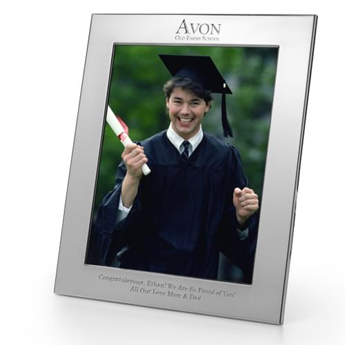 Avon Old Farms Polished Pewter 8x10 Picture Frame