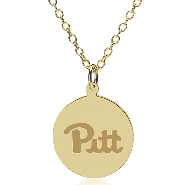Pitt 14K Gold Pendant & Chain