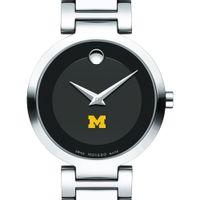 Michigan Women's Movado Museum with Steel Bracelet