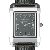 West Point Men's Gray Quad Watch with Leather Strap Image-1 Thumbnail