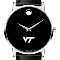 Virginia Tech Men's Movado Museum with Leather Strap