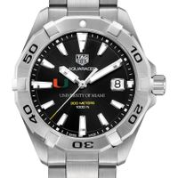 Miami Men's TAG Heuer Steel Aquaracer with Black Dial