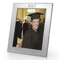 Kappa Kappa Gamma Polished Pewter 8x10 Picture Frame Image-1 Thumbnail