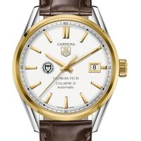Georgia Tech Men's TAG Heuer Two-Tone Carrera with Strap