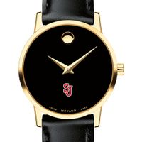 St. John's Women's Movado Gold Museum Classic Leather