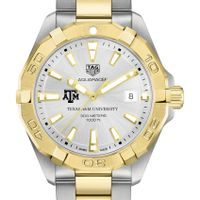 Texas A&M Men's TAG Heuer Two-Tone Aquaracer