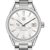 Coast Guard Academy Women's TAG Heuer Steel Carrera with MOP Dial & Diamond Bezel