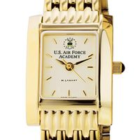 USAFA Women's Gold Quad Watch with Bracelet