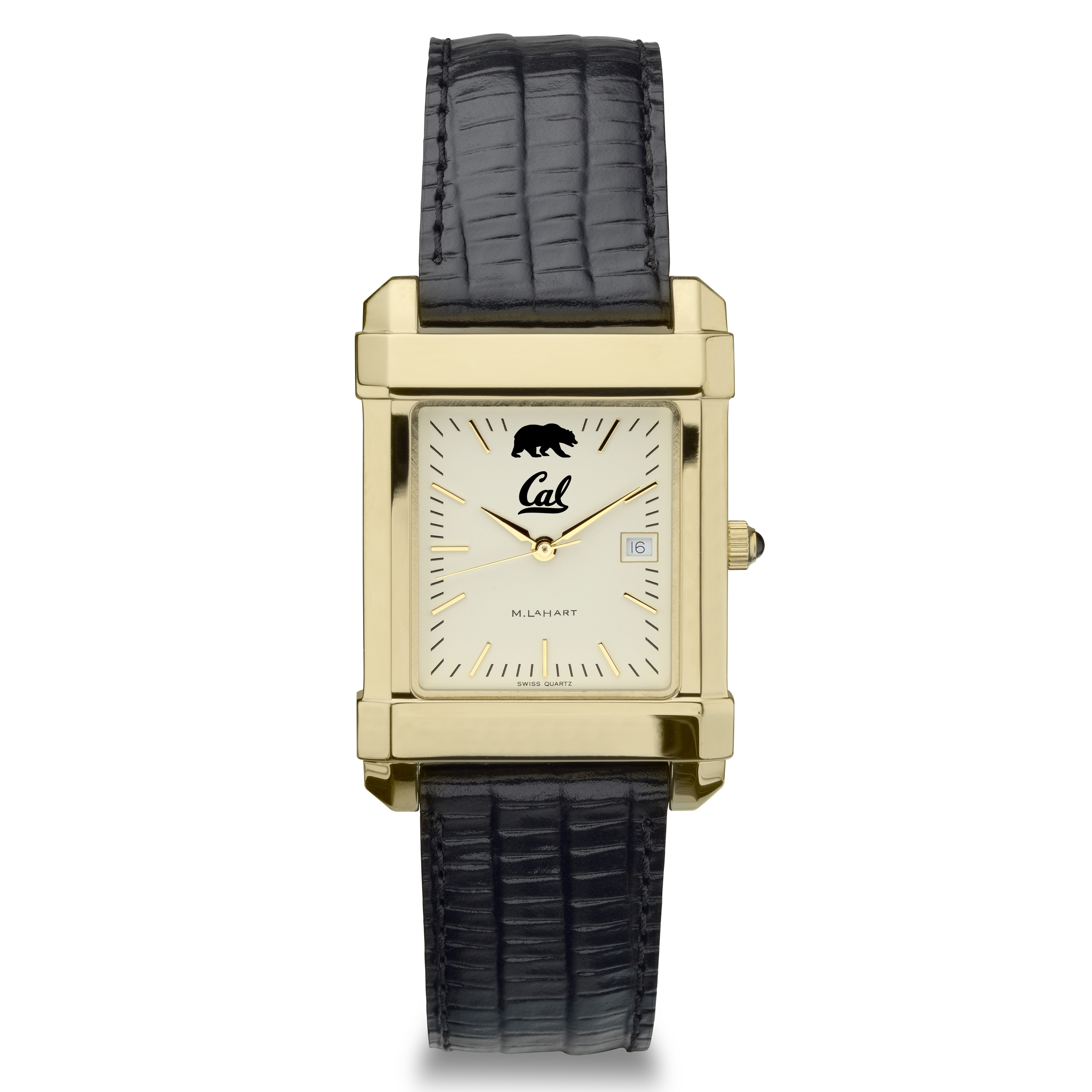 Berkeley Men's Gold Quad with Leather Strap
