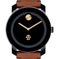 Boston College Men's Movado BOLD with Brown Leather Strap