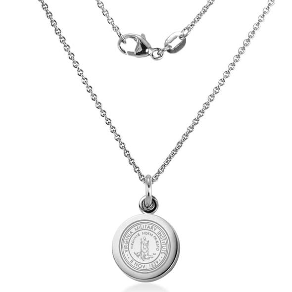 VMI Sterling Silver Necklace with Silver Charm Image-2