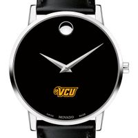 VCU Men's Movado Museum with Leather Strap