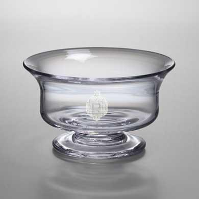 USNA Medium Glass Presentation Bowl by Simon Pearce