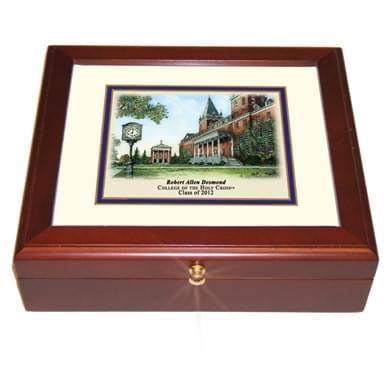 Holy Cross Eglomise Desk Box