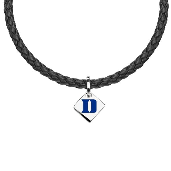 Duke Leather Necklace with Sterling Silver Tag