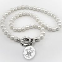 William & Mary Pearl Necklace with Sterling Silver Charm