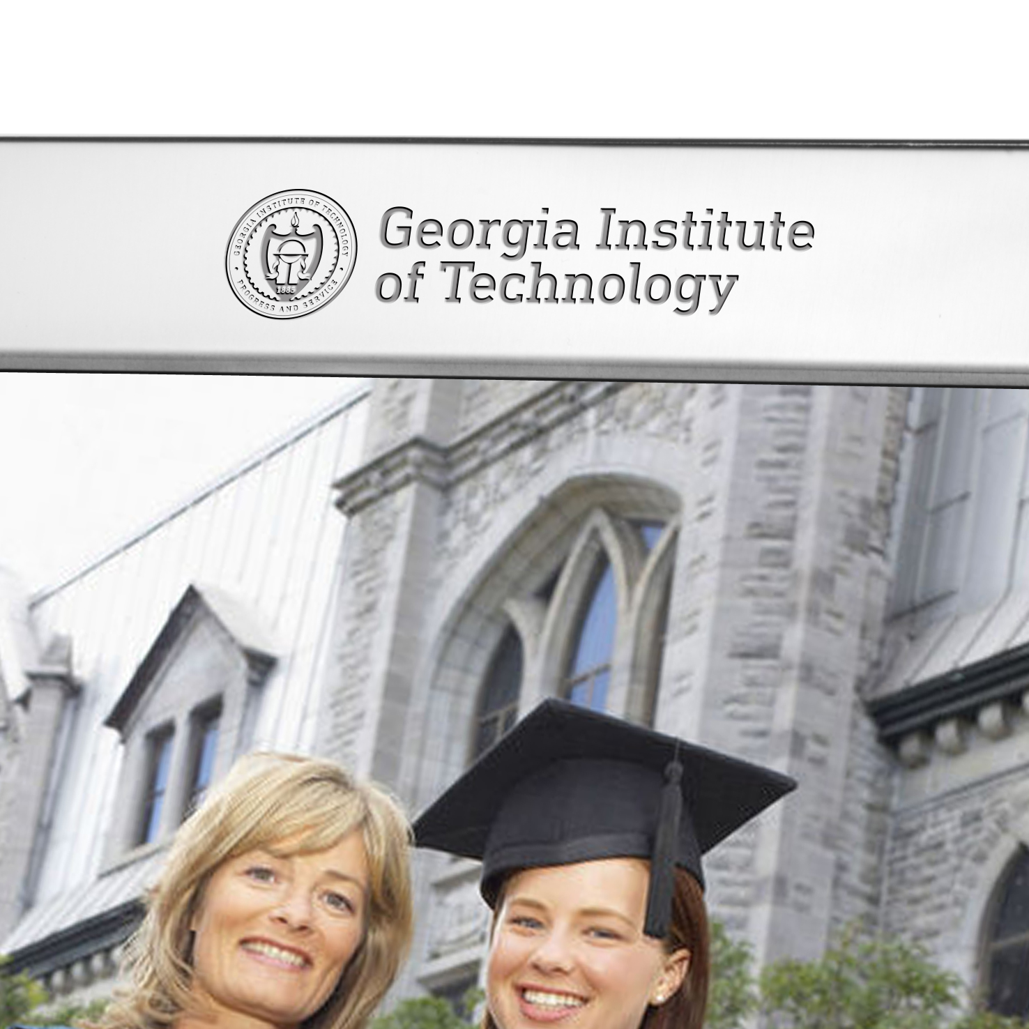 Georgia Tech Polished Pewter 8x10 Picture Frame Image-2