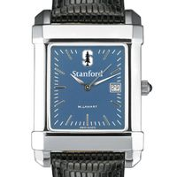 Stanford Men's Blue Quad Watch with Leather Strap