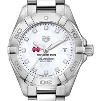Mississippi State Women's TAG Heuer Steel Aquaracer with MOP Diamond Dial