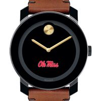 Ole Miss Men's Movado BOLD with Brown Leather Strap