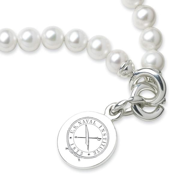 USNI Pearl Bracelet with Sterling Silver Charm