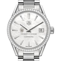 Tennessee Women's TAG Heuer Steel Carrera with MOP Dial & Diamond Bezel