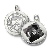Penn Monica Rich Kosann Round Charm in Silver