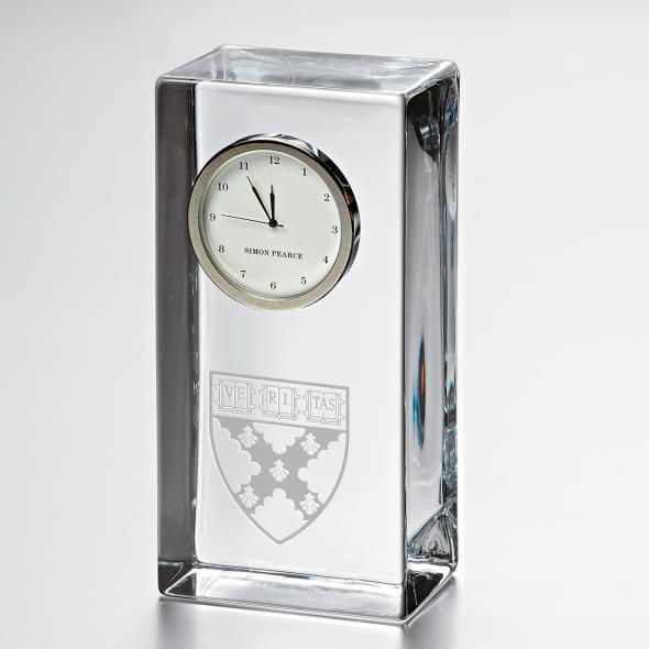 Harvard Business School Tall Glass Desk Clock by Simon Pearce