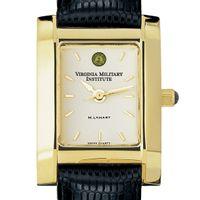VMI Women's Gold Quad Watch with Leather Strap