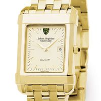 Johns Hopkins Men's Gold Quad Watch with Bracelet