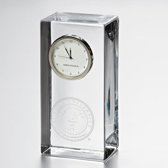 Auburn Tall Desk Clock by Simon Pearce