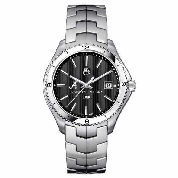Alabama TAG Heuer Men's Link Watch with Black Dial