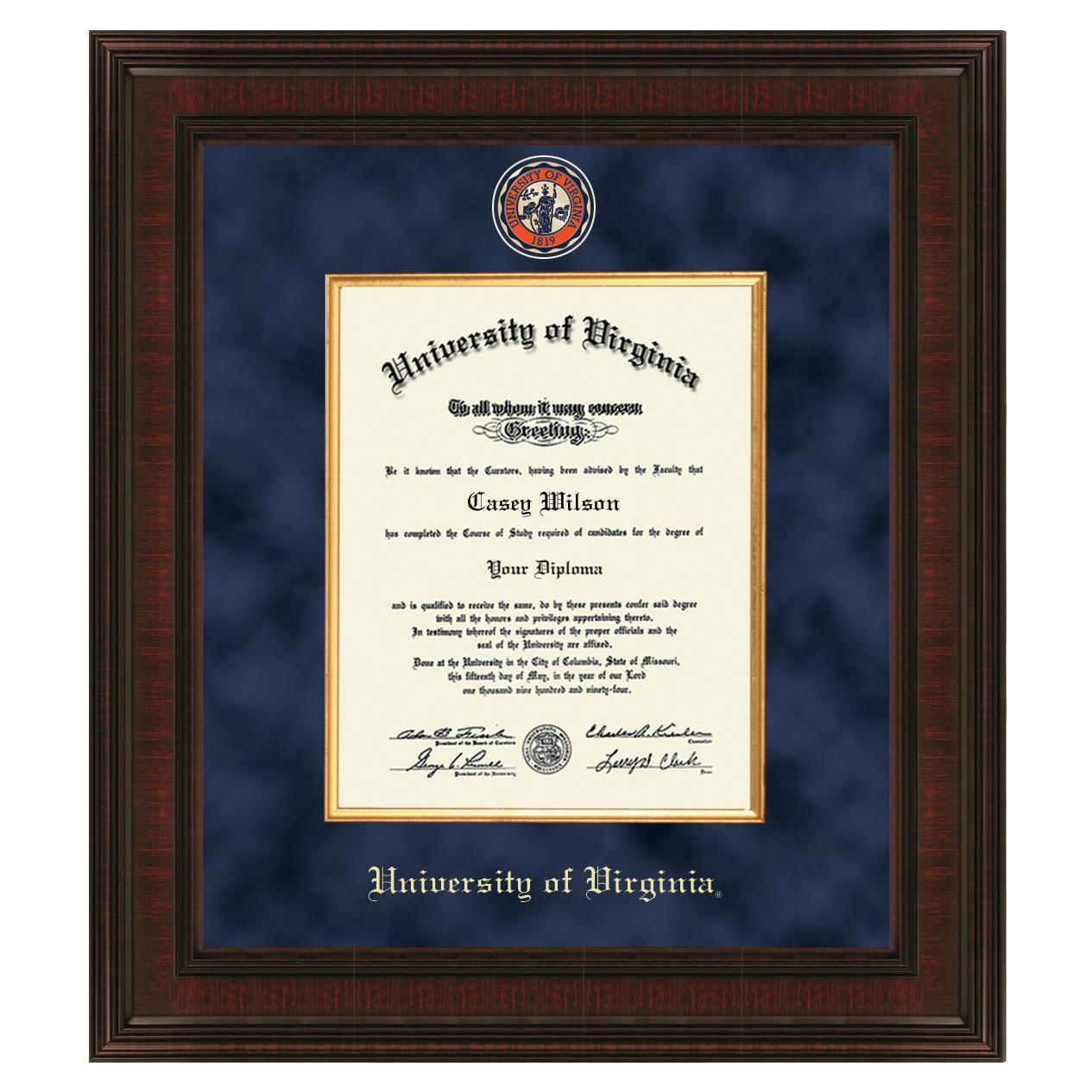 University Of Virginia Diploma Frame Excelsior