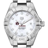 Auburn Women's TAG Heuer Steel Aquaracer with MOP Diamond Dial