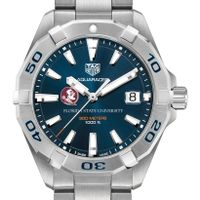 Florida State Men's TAG Heuer Steel Aquaracer with Blue Dial