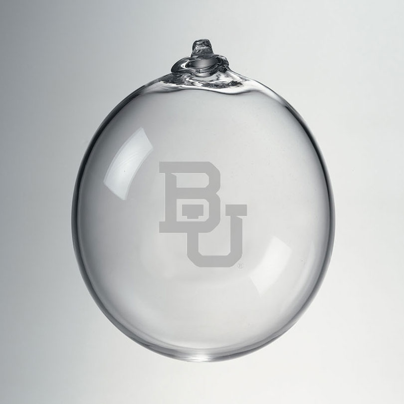 Baylor Glass Ornament by Simon Pearce