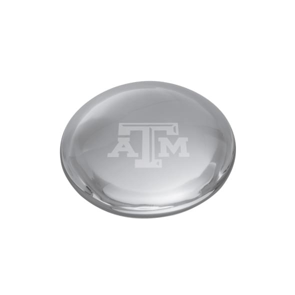 Texas A&M Glass Dome Paperweight by Simon Pearce