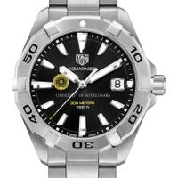 Notre Dame Men's TAG Heuer Steel Aquaracer with Black Dial