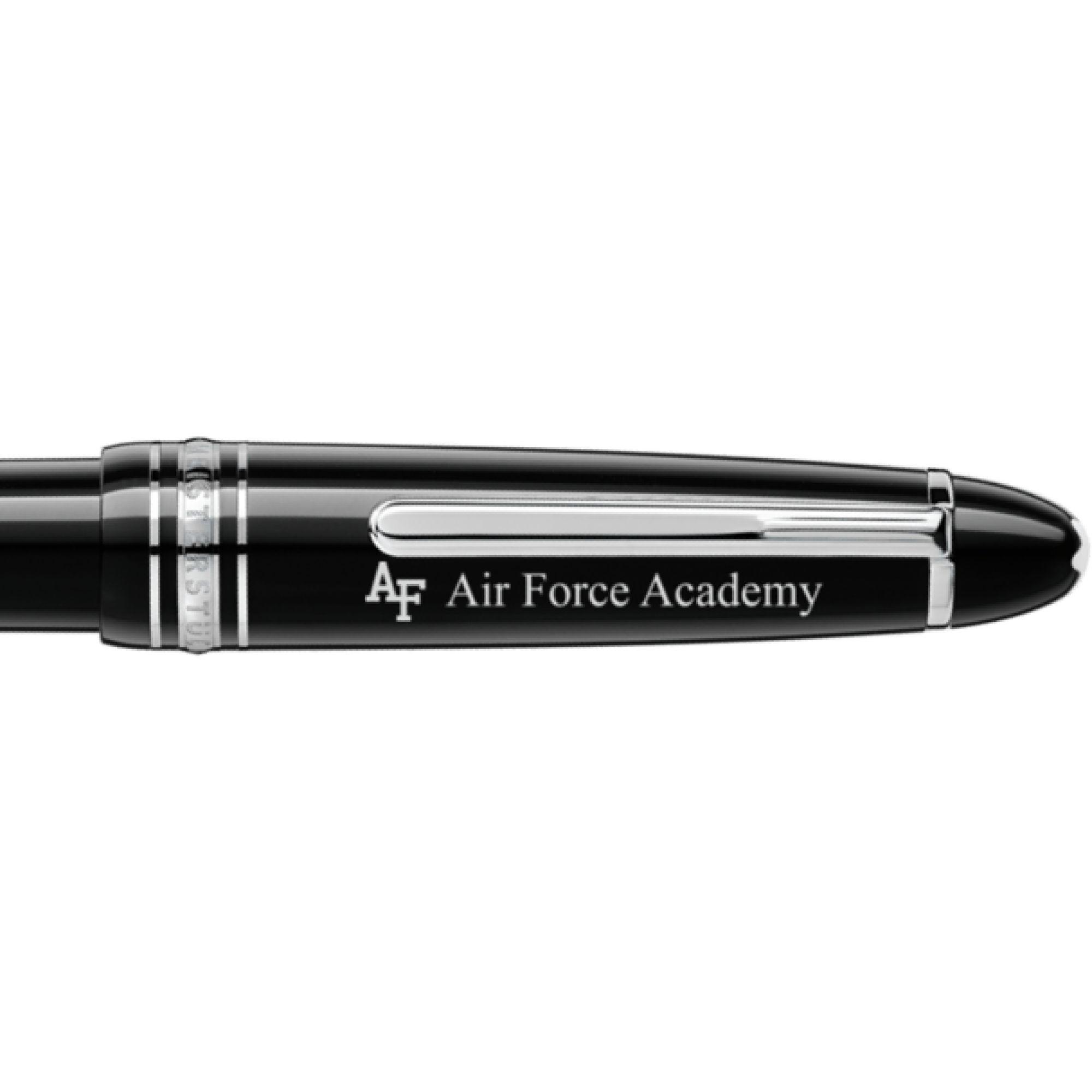 US Air Force Academy Montblanc Meisterstück LeGrand Ballpoint Pen in Platinum