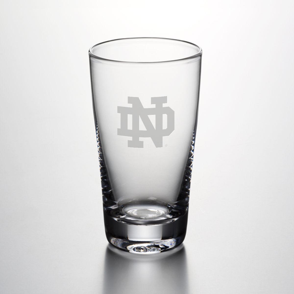 Notre Dame Pint Glass by Simon Pearce